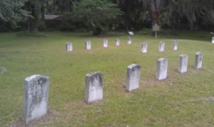 Cemetery at Fort King George.