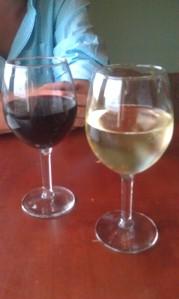 FREE wine at the wine bar.